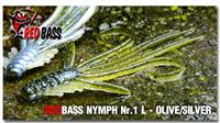 RedBass Nymfa Nr.1 80 mm - Olive/S - 1ks